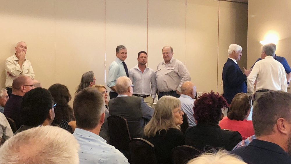 Nth Queensland State Forum with KAP - Nick Dametto MP, Robbie Katter MP, Bob Katter MP and Senator Fraser Anning. This will be one of many meetings held around the Nth to gather momentum for a separate state.