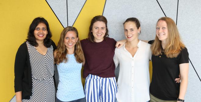 From left to right: Krutika Harale, Penny Flicker, Eloise King-Smith, Barbara van de Sande, Vikki Stevens