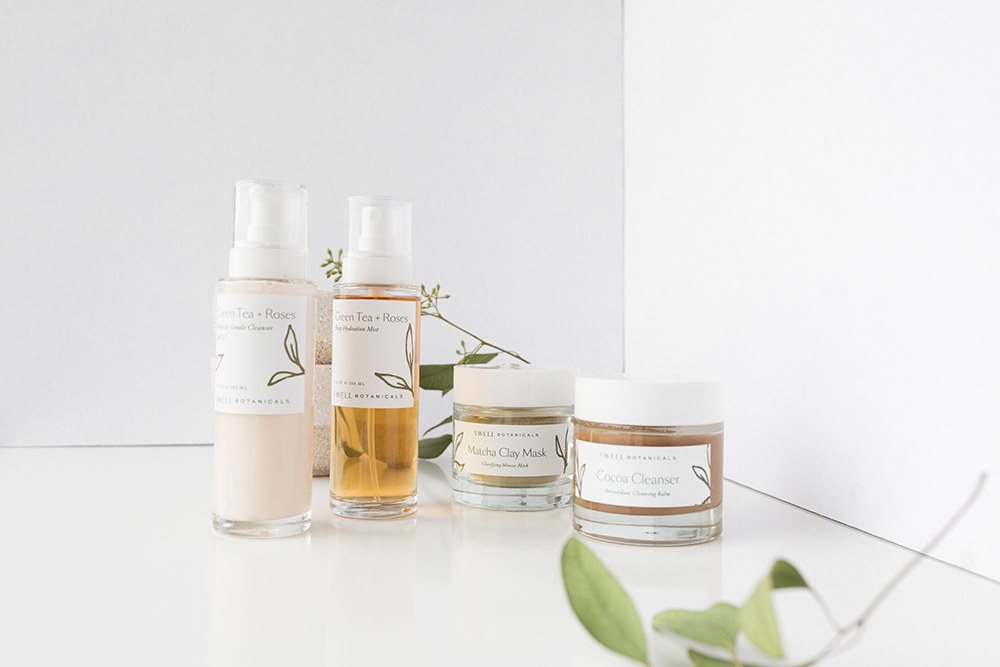 skin-care-routine-natural-plant-products-swell-botanicals