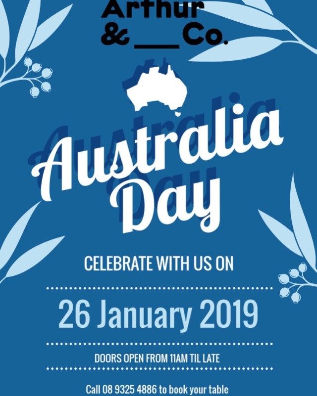 Heading to the skyshow on Australua Day? Drop into Arthur & Co for a few drinks or bite to eat! Open from 11am to late  #arthurandco #perthskyshow #australiaday #pertheats #perthisok #ausdaylongweekend