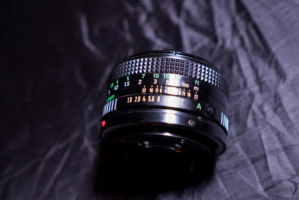 Canon FD adapted lenses - 28mm, 50mm, 100mm. Beautiful vintage glass