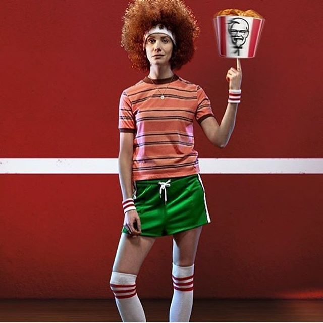 Our Emma for KFC, fantastic shot!!! 🔥🔥🔥🔥 #TeamRealLondon #TeamNapoleonDinamite #SorryEmma #WeLoveYou