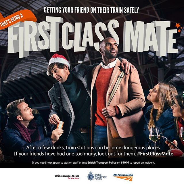 Our very handsome Michael Addo (red top) in Network Rail's Christmas campaign! 🎅🏻🎄 #networkrail #firstclassmate #christmas #campaign #reallondonmodels #reallondoncasting #talent #modelagency #casting #london #realpeople