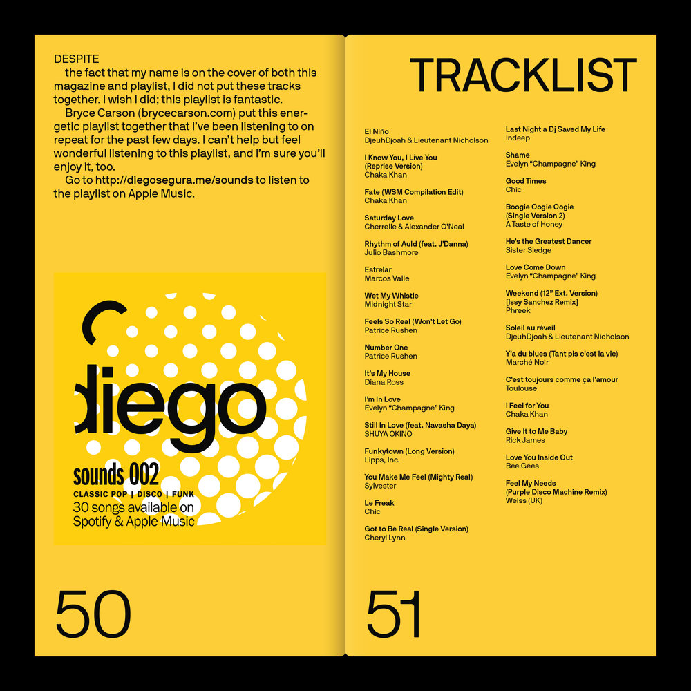 Sounds 002, from the  Feb. '19  issue of Diego Segura Magazine.