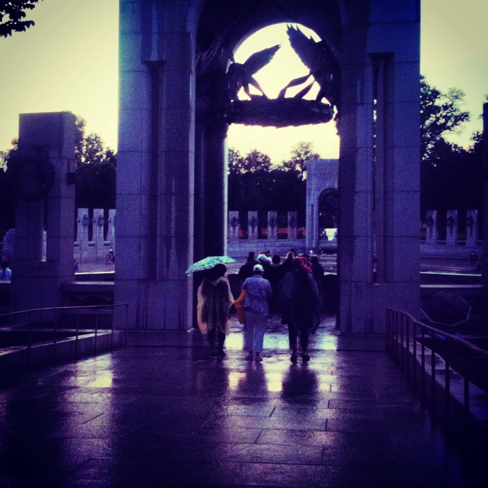 After the rain, World War II Memorial, Washington, DC, May 2012