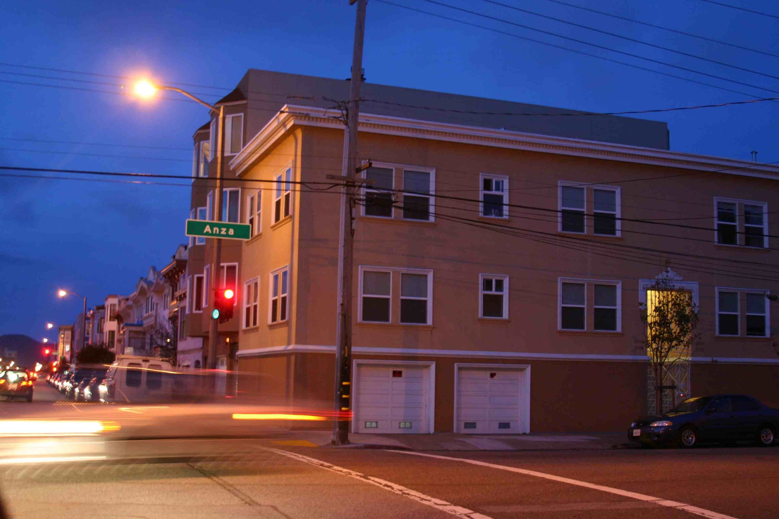 Dusk on Anza, San Francisco, February 2012, Photo Credit: Kate Gallery