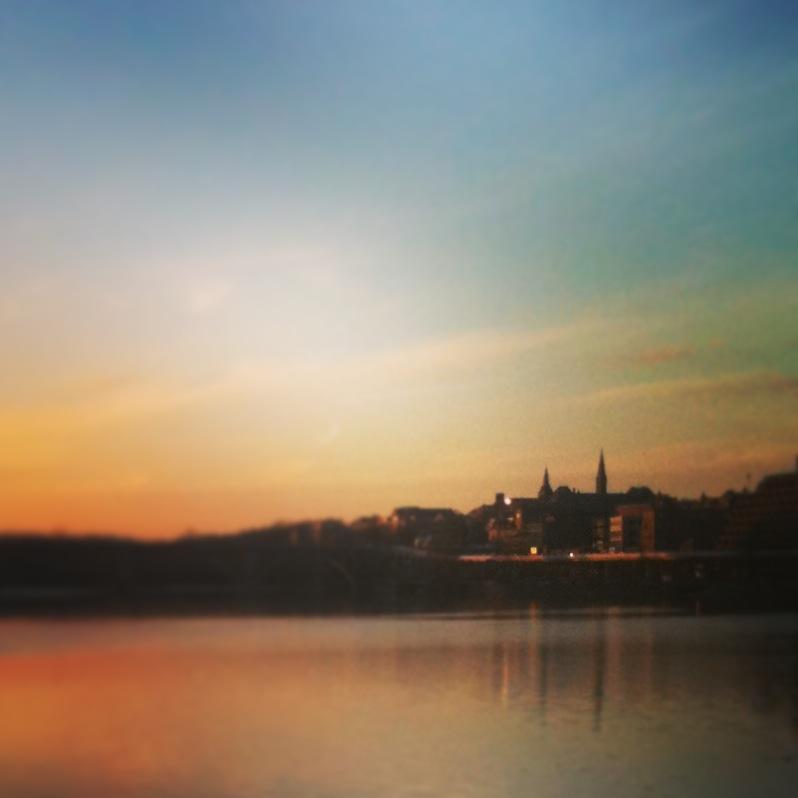 Georgetown and Potomac River, Washington, DC, January 2013