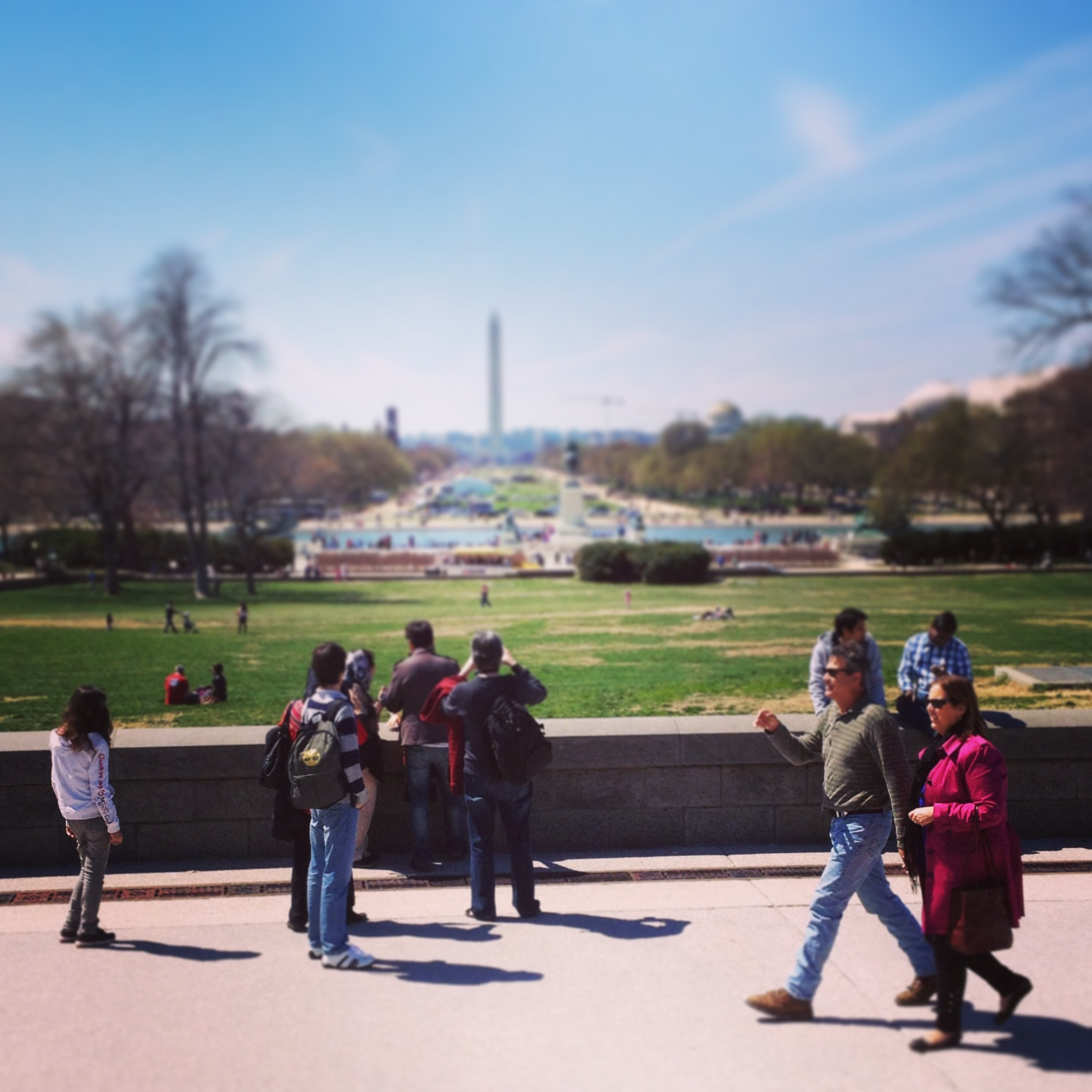 National Mall, April '14, Photo: Kate Gallery, Neighborhood Nomads