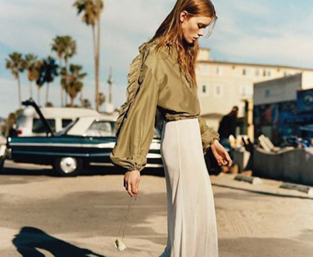 (photo source:  Matteo Montanari )  CALIFORNIA CASUAL  For Spring / Summer 2019, we are seeing comfort as an overall essential aesthetic. There is an overarching easy, yet intentional put together vibe for this season. Rather than looking to other countries for this trend, California classic style seems to be popping up as the obvious underlying influence.