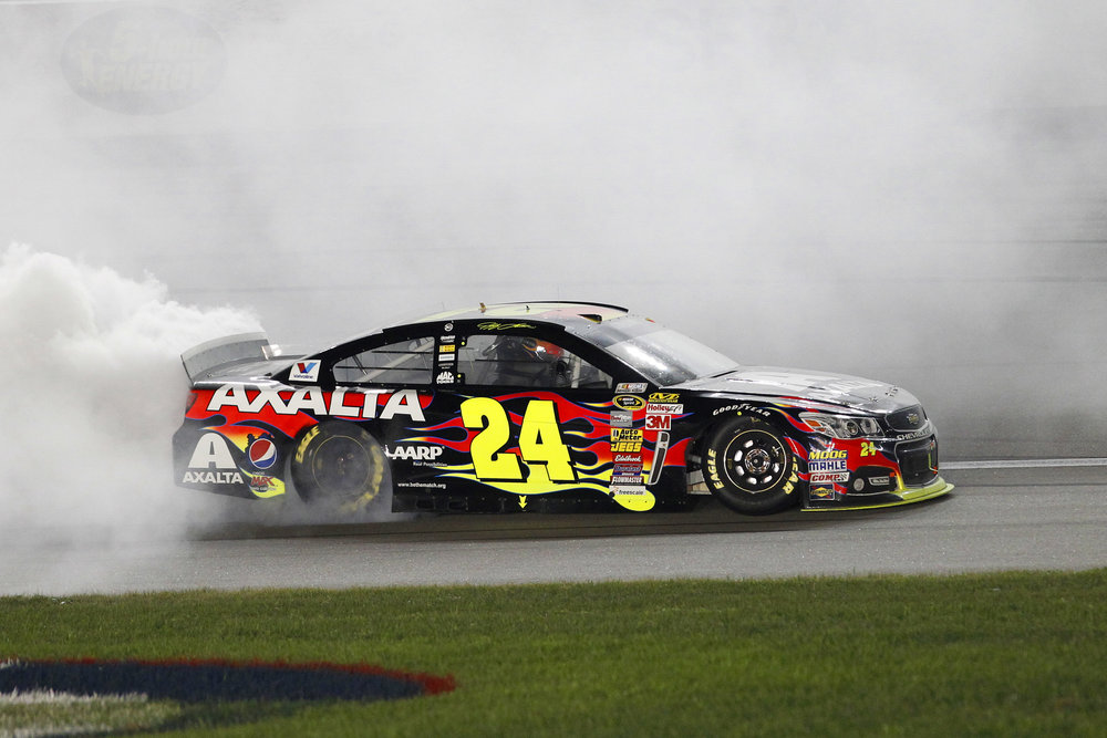 #24-869 - Hendrick Motorsports Chassis #24-869 is a Chevrolet SS that was raced eight times by Jeff Gordon during his final two seasons in 2014 and 2015. Jeff drove this car to two victories at Kansas and Dover in 2014.