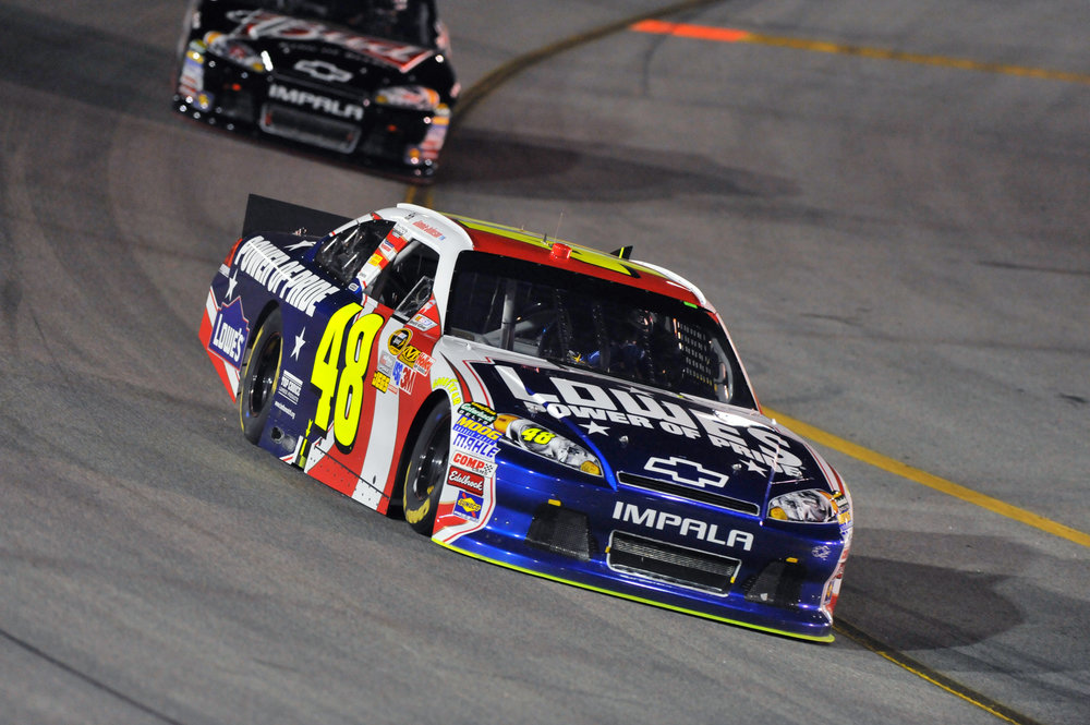 #48-590 - Hendrick Motorsports Chassis #48-590 is a Chevrolet Impala that was raced by Jimmie Johnson during his record fifth-straight championship season in 2010. It also raced in the 2011 season, finishing inside the top-10, five out of six races.