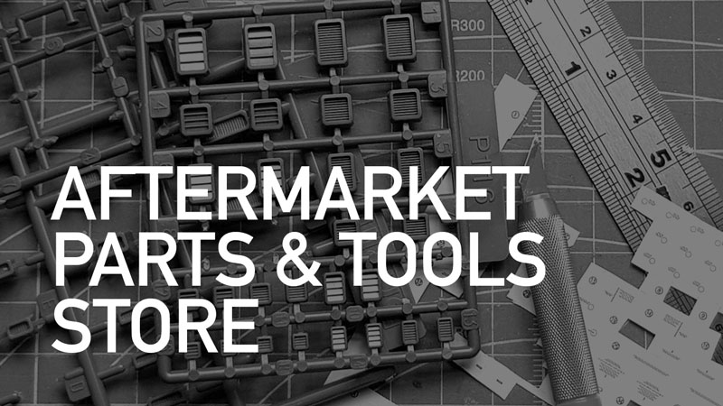 AFTERMARKET PARTS & TOOLS - Looking for up your modelling game? Browse our range of detail parts, decals, tools and accessories for mecha and Gunpla modellers!