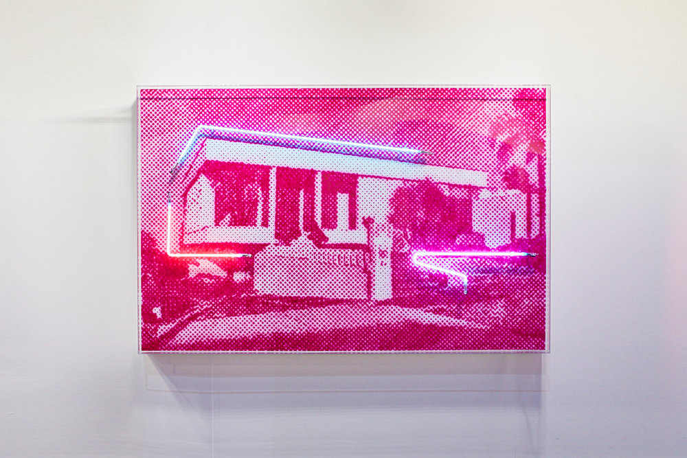 Iwanoff house  Airbrush acrylic polymer and neon on dibond, acrylic frame 110x170cm each