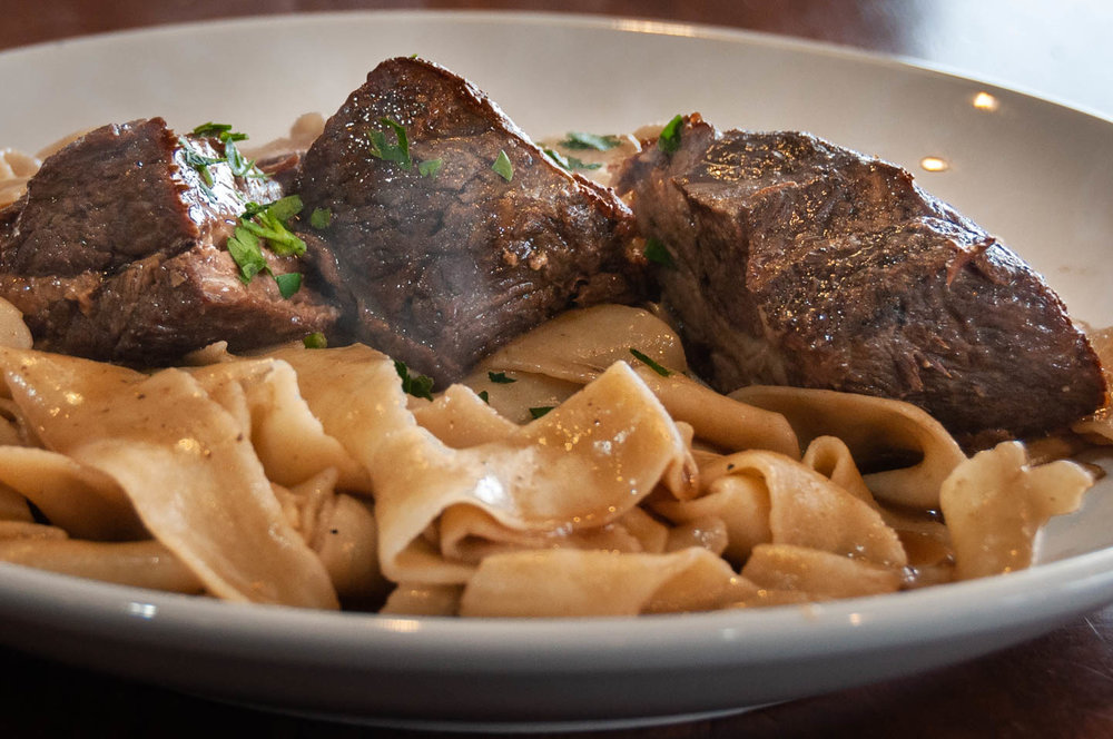 Short Ribs Over Papardelle