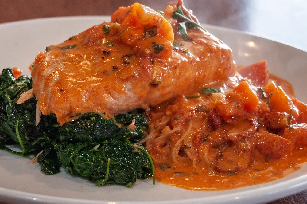 Toninos Pizza & Pasta Malvern Pa - Salmon Monterosa With Spinach Over Angel Hair Pasta.jpg