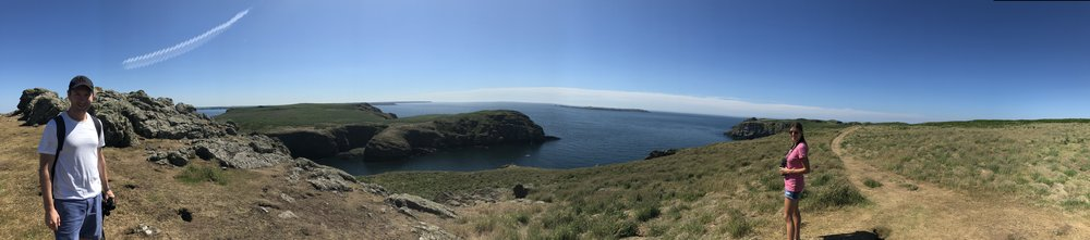 Enjoying the beautiful island.