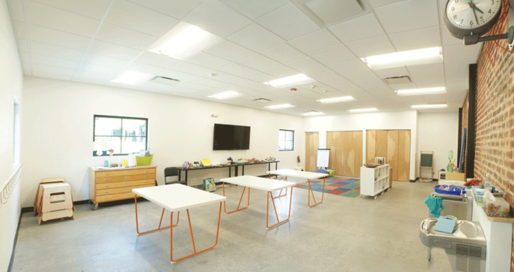 Roots + Wings Classroom Rentals - Classrooms 1, 2 and 3 are available for hourly rentals from Roots + Wings School of Art and Design for education, instructional services, special event, lecture and presentation uses. Visit the Roots + Wings website for booking information.