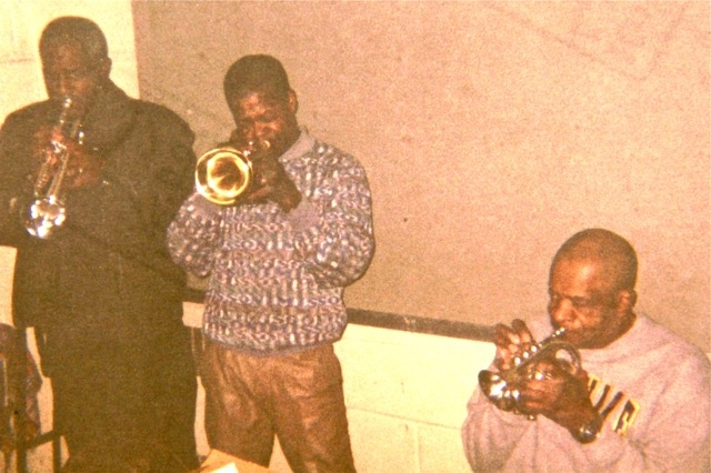 Left to right: Ronald Jones, John Mosely and the late Donald Byrd…