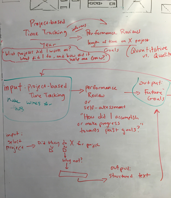 Whiteboarding the HCM process. Photo by Kevin Pelrine