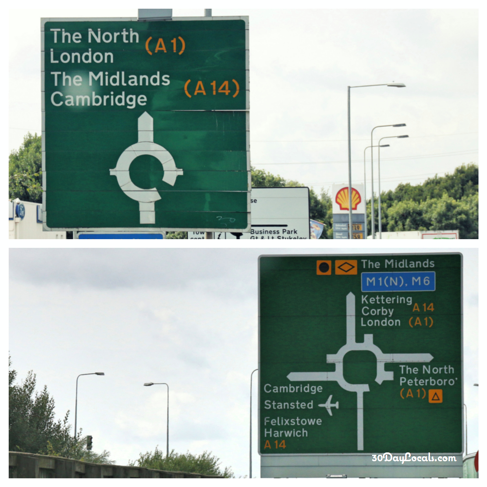 Roundabouts in England
