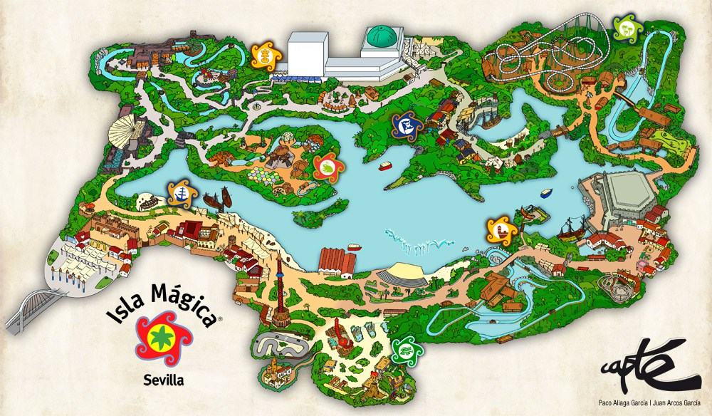 Map of the Isla Magica theme park