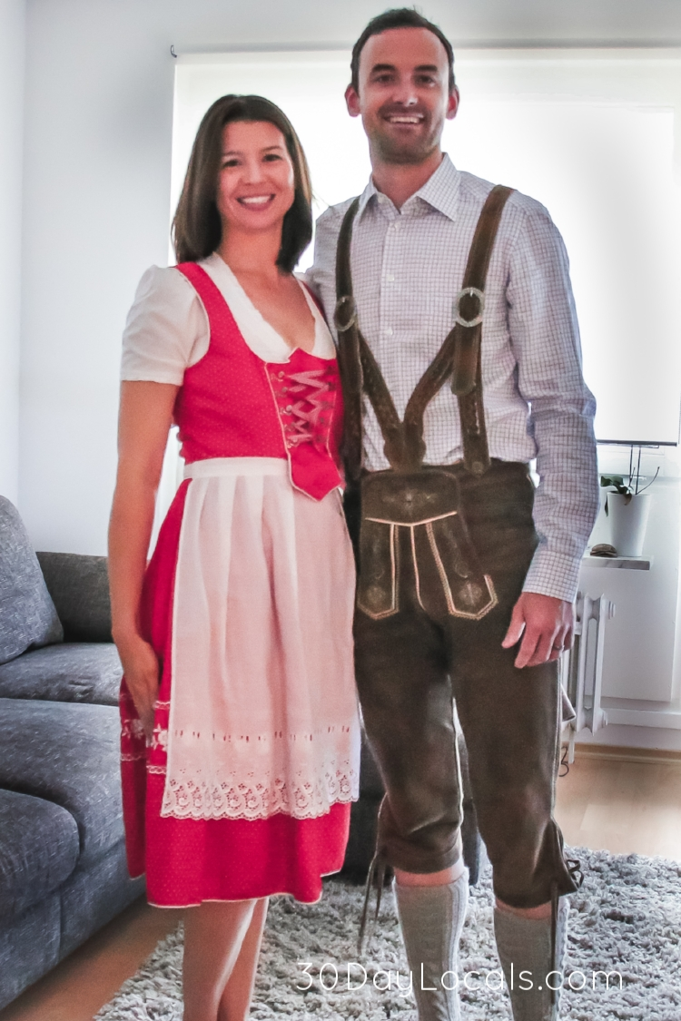 Oh how I wish we could have worn these to Oktoberfest. They belong to our friends and unfortunately I was not able to zip up the side of my dress.