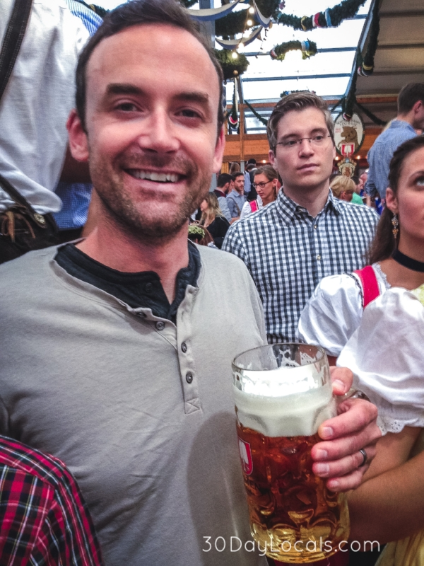 Brett enjoying his first night at Oktoberfest.