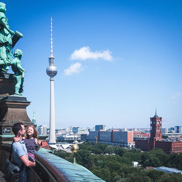 Hello Berlin! On top of the world at the Berliner Dom and enjoying a daddy daughter moment. . . .  Have you been to Berlin before? What were your favorite moments? . . .  #wherenextlittleone #familytraveltribe #takeyourkidseverywhere  #gofurther #travelbrood  #travelinsider #kidswhoexplore  #tinybigadventure #familytravel  #familytravelbloggers #familytravels  #familytravelblog #familytravelblogger  #familytravelmoment #familytraveller  #familytraveling #familytravelers  #familytravellers #familytraveladventures  #familytravelgram #traveladdicts  #travelingkid  #kidsthattravel  #girlsthattravel  #travelkids #daddydaughtertime #berlincity #visitberlin #berlinwithkids #bestofberlin