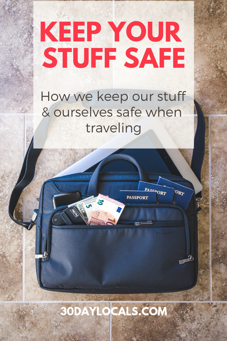 How to keep yourself and your stuff safe when traveling. See how this world-traveling family keeps safe so you can prepare yourself too and take that dream vacation.