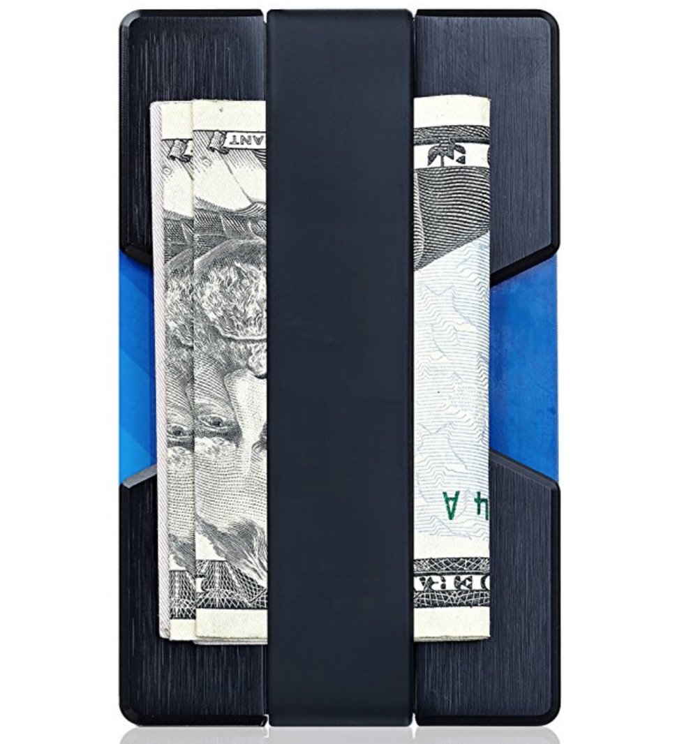 Holiday gift ideas for travelers who love tech - minimalist RFID Wallet