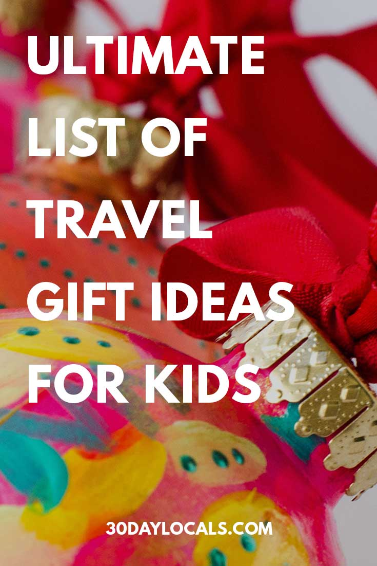 Ultimate list of travel inspired gift ideas for kids. This is what the kids actually want from preschool to teenagers. Tried and tested! #holidaygifts #holiday #christmasgift #giftidea #giftguide