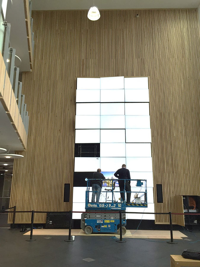 Bath Spa University Video Wall - In Progress