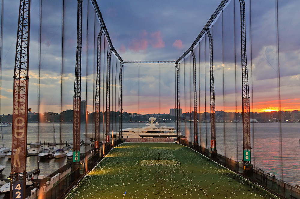 golfing in the middleof manhattan - This is your one and only chance to drive, chip, and putt on a scenic Hudson River pier. If you're a golf player or not, this is such a fun activity, if you need a little break from shopping and sightseeing. You purchase a ball card, insert it into your hitting stall's card reader, and golf balls begin to tee-up automatically. It's quite fun! You can also play in the simulator and the putting green.Get all the rates here.The Golf Club at Chelsea Piers,59 Chelsea Piers