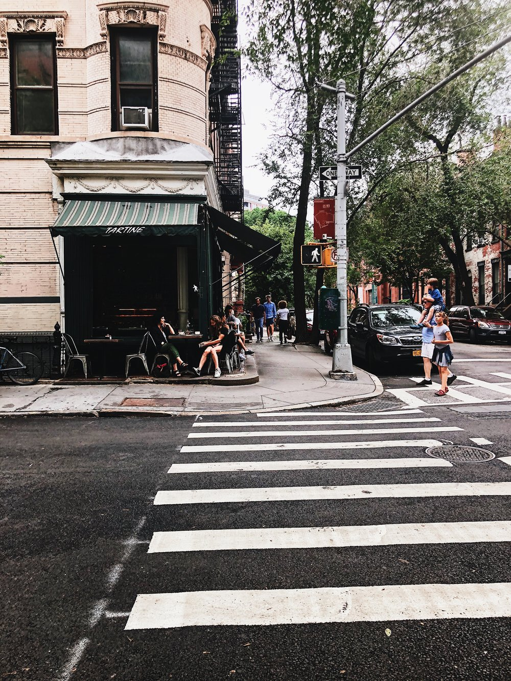 'Hygge':a quality of cosiness and comfortable conviviality that engenders a feeling of contentment or well-being - When I think of hyggein New York City, I think of Greenwich Village. In this very area you'll also find my favorite street side café: Tartine.
