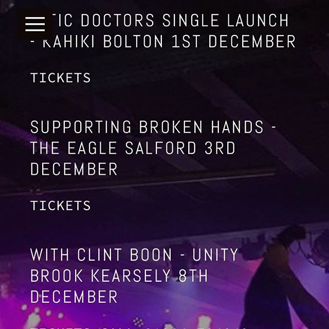 ALL DECEMBER DATES NOW UP ON OUR WEBSITE. COP SOME TICKETS. www.cleargreenhq.com