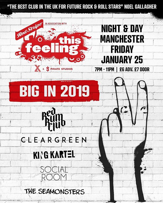 TICKETS FOR @thisfeelinghq 'BIG IN 2019' ON SALE 10AM! THIS IS GONNA BE MASSIVE, SO MAKE SURE YOU GET SOME FROM HERE: https://www.seetickets.com/event/this-feeling-manchester-big-in-2019-/night-day/1295161  COP YOURSELF ONE OF THE BIG IN 2019 LPS HERE TOO: https://www.blood-records.co.uk/current-release/