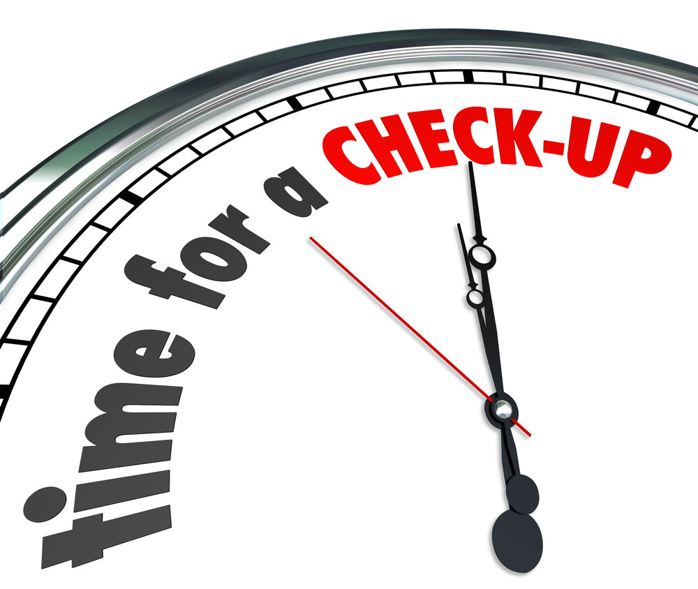 Time for A Check-Up Words Clock Physical Exam Evaluation