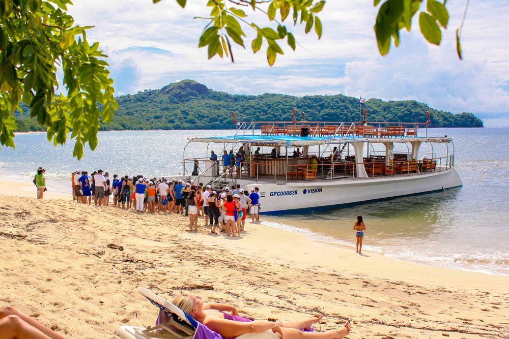 catamaran tours costa rica cruise boat