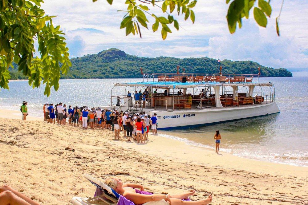 catamaran tours costa rica cruise boat