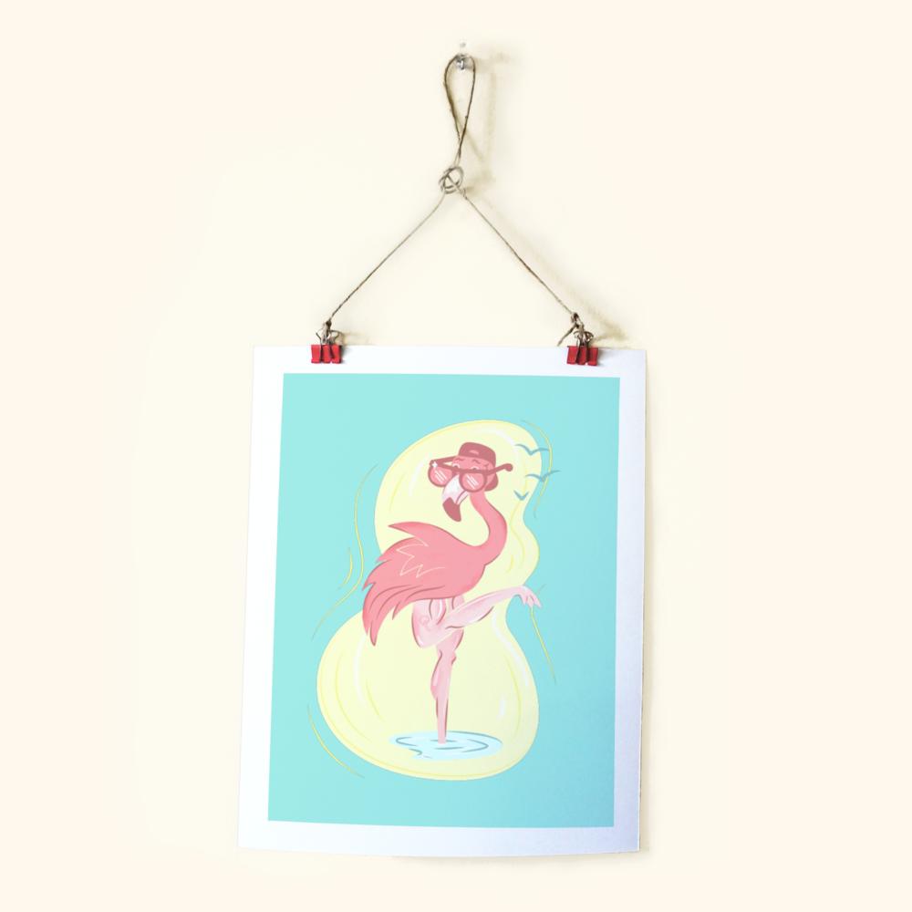 Beach Bird Print