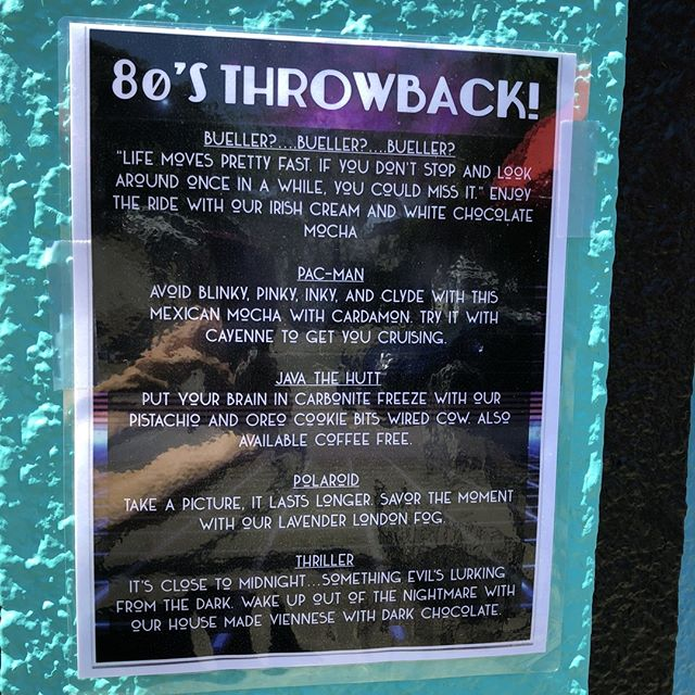 Check out these bitchin' new drink specials. #80sthrowback #bueller? #shackcoffee #drinkspecials #ilovecoffee