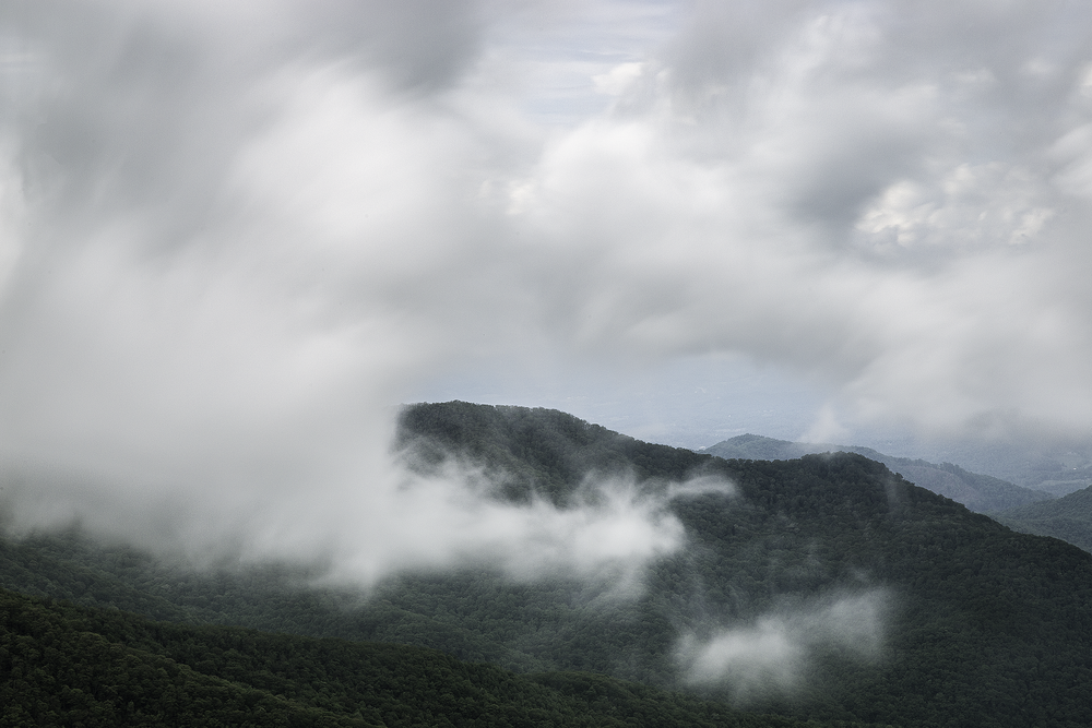 Lifting Fog in the Craggy Mountains  Blue Ridge Parkway, NC 2018