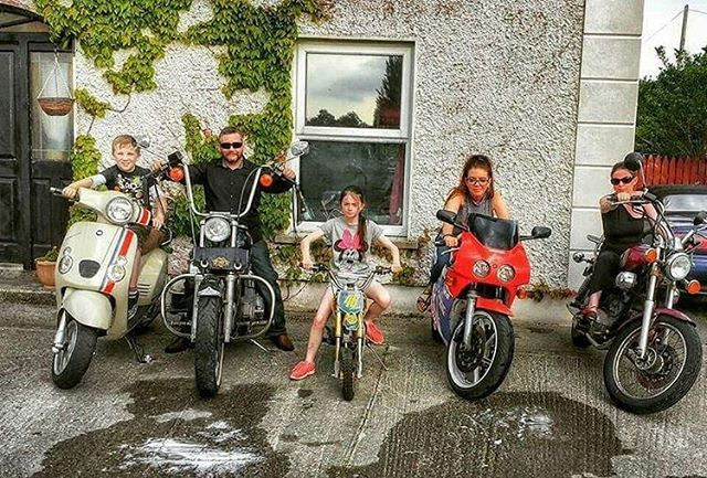 Great family photo from @irishbikers  Who else has a family that rides together?