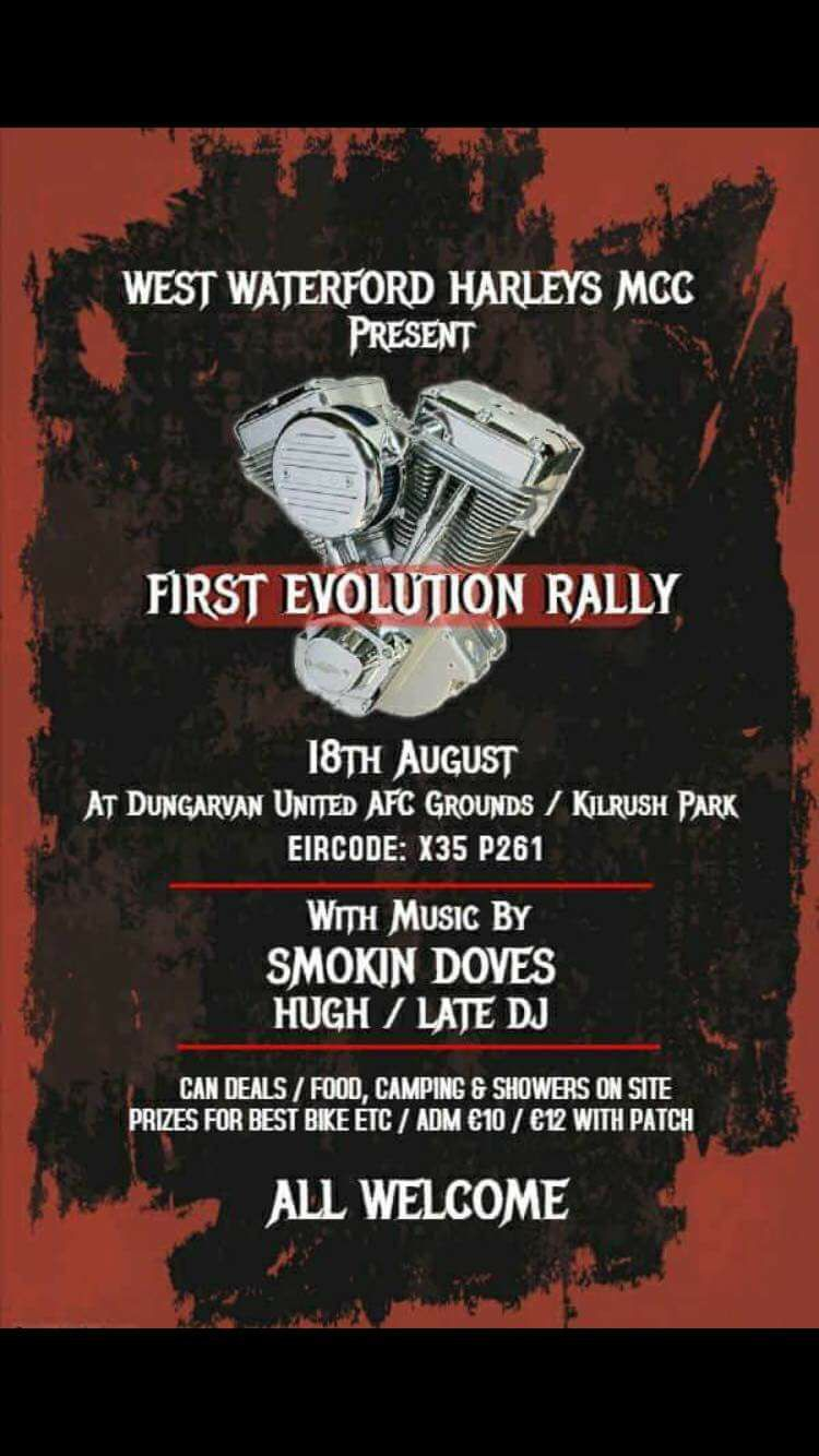 West Waterford Harleys First Evolution Rally