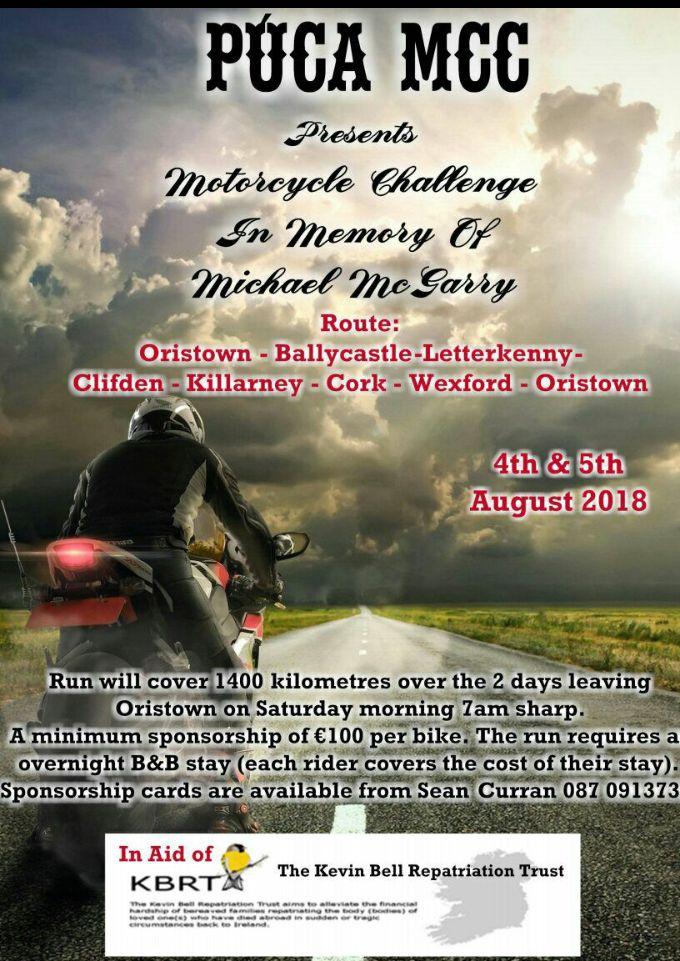 Púca MCC Memorial Bike Challenge
