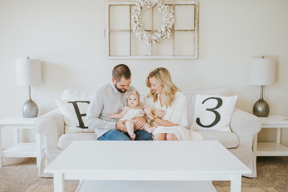Michael, Abbey, & Baby P - In Home Session