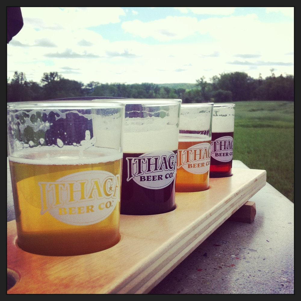 Beer tasting at Ithaca Beer Co.