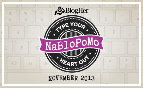 NaBloPoMo 2013