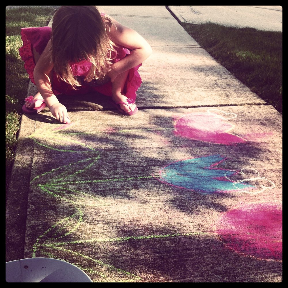 Ana on the sidewalk