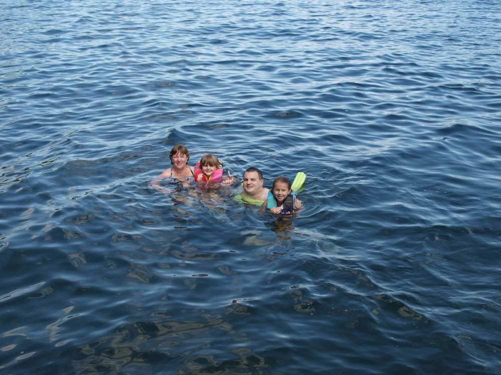 Swimmin in Lake George